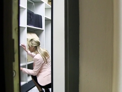 Czech Blonde Cristal Caitlin Fucks in Office