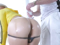 TeenCurves - Curvy Blonde Teen Gets Ass Filling