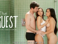 Caroline Ray & Sara Luvv & James Deen in The Guest Video