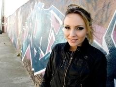 Russian Beauty gets fucked in public