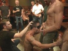 Bound Victim Public Gangbanged By 50 Horny Men