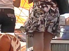 Sexy hidden camera up petticoat movie scene