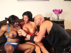 Crazy pornstars Shay Fox and Yvette Bova in best interracial, brunette porn video