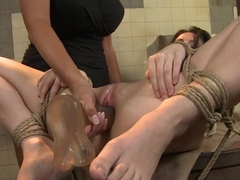Anna Marie La Sante dildo fuck on the drum