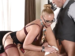 Crazy pornstars Gina Gerson and Kathia Nobili in hottest spanking, cumshots adult scene