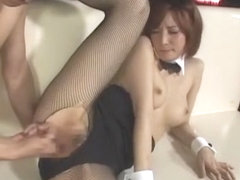 Crazy Japanese chick Yuria Satomi in Exotic Threesome JAV video