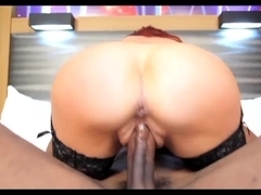 Black guy fucks a busty MILF and gives her facial