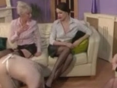 Six Nylons Legs Dominant-Bitch Sub