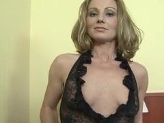 Sexy milf takes ebony cock inside her