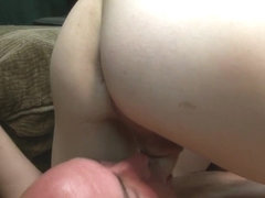 Redhead shemale has her fat cock sucked professional