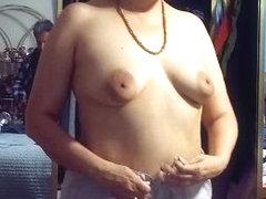 Big nippled wife dressing