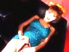 Incredible Japanese chick Anna Akizuki in Amazing Masturbation/Onanii, Stockings/Pansuto JAV video
