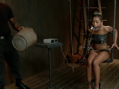 Skin Diamond gets roughed up by Jack Hammer in their first scene together