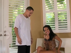 Deepthroated Jayden Lee is fingered by Cris Commando