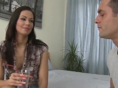 Slim Cipriana in hot pants makes out with Renato