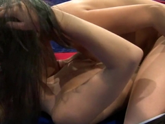 Blistering Blue Angel gets licked out by this whore