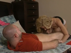 Holly and her big ass were seduced by a handsome guy