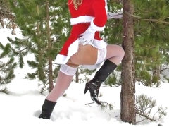 Sexy santa s helpers in sexy lingerie  hot striptease