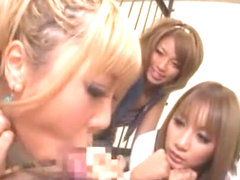 Best Japanese whore Rio Sakura, Runa Anzai, Mana Izumi in Horny Group Sex, POV JAV clip