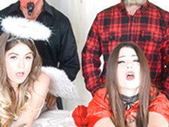 Lacey Channing & Pamela Morrison in Halloween Hijinks - DaughterSwap