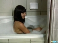 Sexy adventure of BeBe in her bath