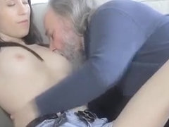 Old Guy Has Sex With Sweet Young Teen Acquires Cock Sucked