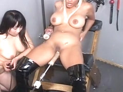 Sex Slaves In Bondage With Sex Machine!