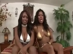 Assplay-Rimjob from two Black Babes for TB