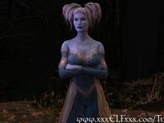 Elf Enchantress Fucks and Gives Magical Blowjob