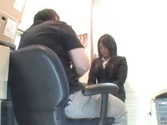 Curvy Jap sucks and fucks in spy cam Asian office sex video