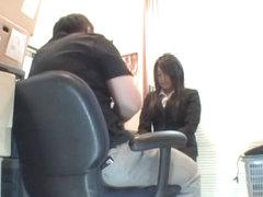 Curvy Jap sucks and fucks in spy cam Asian office sex video