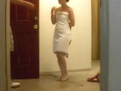 Towel drop for deliveryman