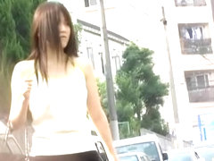 What an Asian cutie is involved in this sharking Japan video