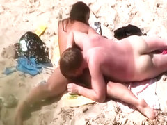 Pussy eating and fuck on beach