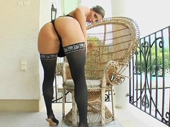 Milf Thing MILF babe Eliza dressed to kill sucks some cock