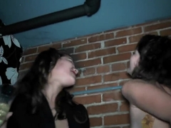 Interracial orgy in the club with Jordana Heat and Roxy Love