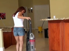 Hot maid gets dirty with the owner of the place