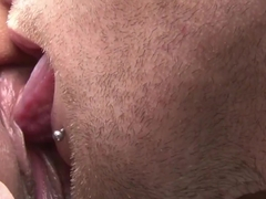 Shaved tight amateur pussy fucked on the car