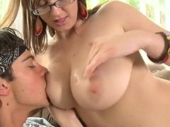 Great fuck with a super hot and appetizing busty lady Sara Stone