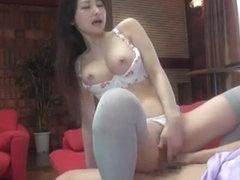 Exotic Japanese slut Maki Mizusawa, Yuri Sato 2, Azumi Mizushima in Incredible Stockings, Lingerie.