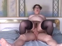 A fat and nerdy bitch gets the rough pussy drilling she deserves