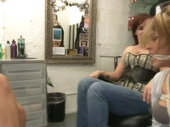 Beauty Salon fuck fest with Laurie Vargas as a willing whore fuck toy