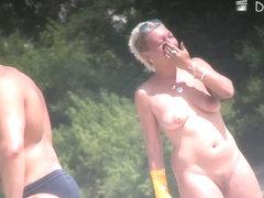 Sexy milf blonde hidden beach voyeur video