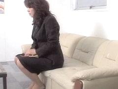 Jap secretary gets her snatch filled in spy cam sex video