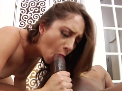 Crazy pornstar Remy LaCroix in Incredible Redhead, Interracial sex scene