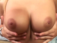 Hotly exciting blonde chick Franciska undressing and showing off her naughty masturbation and sexy.