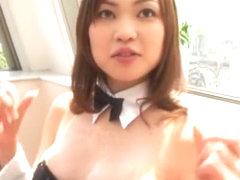 Fabulous Japanese model Manaka Sato in Horny Cumshots, Fishnet JAV movie