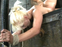 We Put Our Romanian Gymnast Championinto The Scorpion Tieand Make Her Cum Over And Over. - HogTied