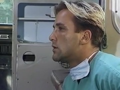 Vintage hot fuck between doctor and TS nurse