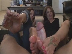 Mother daughter's ally Footjob #2 daughter's ally Teachin Mommy